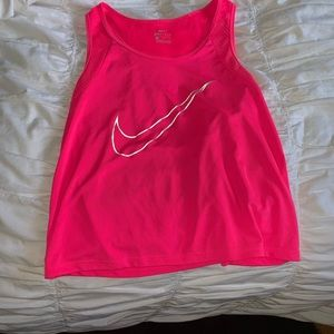 Nike semi-cropped tank top